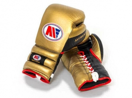 Main Event PSG 3000 Alchemy Pro Spar Boxing Gloves Lace Up Gold