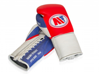 Main Event PFG 8000 Patriot Pro Fight Boxing Gloves Lace Up Red Top