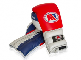 Main Event PSG 8000 Patriot Pro Spar Boxing Gloves Lace Up Red Top