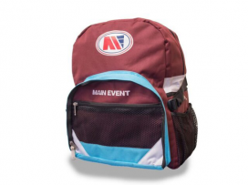 Main Event Boxing Sports Gear Kit Gym Bag Backpack Claret Blue