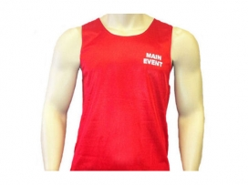 Main Event Satin Punch Boxing Vest - Red