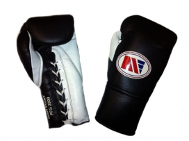 Main Event PFG 2000 Punchers Pro Fight Boxing Gloves Black White