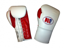 Main Event PFG 2000 Punchers Pro Fight Boxing Gloves White Red