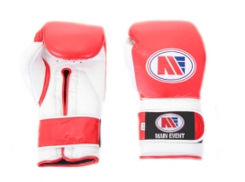 Main Event PTG 1000 Pro Training Boxing Gloves Velcro Red White