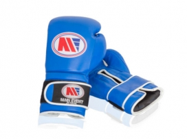Main Event JTG 1000 Childrens Kids Leather Training Boxing Gloves Blue