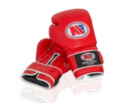 Main Event JTG 1000 Childrens Kids Leather Training Boxing Gloves Red