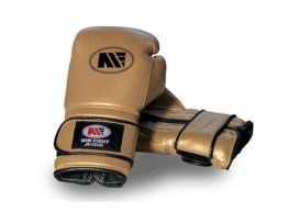 Main Event JTG 1000 Childrens Kids Leather Training Boxing Gloves Gold