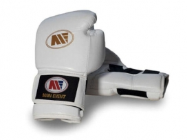 Main Event TTG 5000 Titanium Pro Training Boxing Gloves White Gold