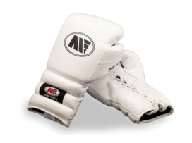 Main Event PSG 5000 Pro Spar Boxing Gloves Lace Up All White
