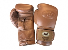 Main Event HTG 1000 Heritage Pro Training Boxing Gloves Velcro Brown