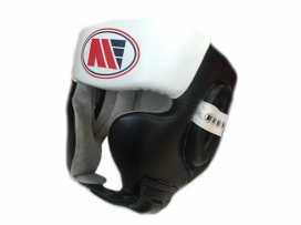 Main Event Boxing Training Head Guard Cheek Protection Black White