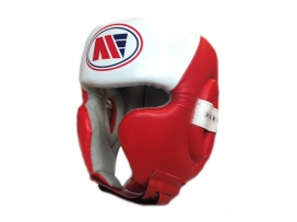 Main Event Boxing Training Head Guard Cheek Protection Red White