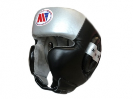 Main Event Boxing Training Head Guard Cheek Protection Black Silver