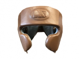 Main Event Heritage Pro Leather Boxing Head Guard Cheek Protection