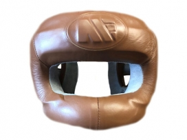 Main Event Heritage Pro Leather Boxing Head Guard Full Face