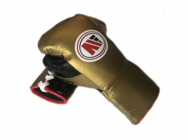 Main Event PFG 3000 Pro Fight Gloves Lace Up Gold Black