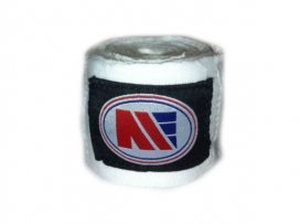 Main Event 2.5m Pro Stretch Boxing Hand Wraps Bandages White