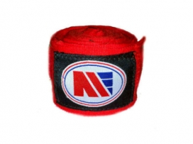 Main Event 2.5m Pro Stretch Boxing Hand Wraps Bandages Red