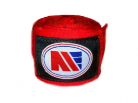 Main Event 5m Long Pro Stretch Boxing Hand Wraps Bandages RED