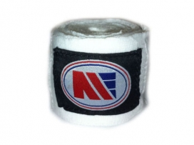 Main Event 5m Long Pro Stretch Boxing Hand Wraps Bandages White