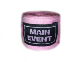 Main Event 2.5m Pro Stretch Boxing Hand Wraps Bandages Pink