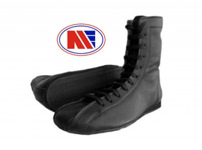 Main Event Tyson Old Skool Retro Boxing Boots Black Leather