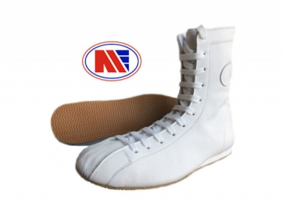 Main Event Tyson Old Skool Retro Boxing Boots White Leather
