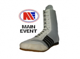 Main Event Apollo Boxing Boots - White / Black