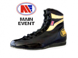 Main Event Alchemy Pro Elite Boxing Boots Black Gold