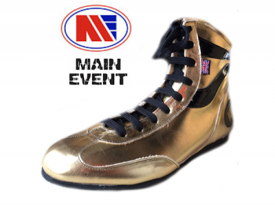 Main Event Alchemy Pro Elite Boxing Boots Gold