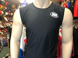 Main Event Base Layer Rash Guard Top Sleeveless Black