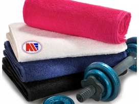Main Event Gym and Kit Bag Boxing Hand Towel Black