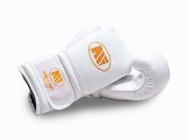 Main Event JTG 1000 Childrens Kids Leather Training Boxing Gloves White
