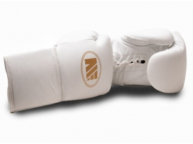Main Event SSR 5000 Super Spar Pro Boxing Gloves Lace Up White