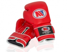 Main Event GTG 1000 Gym Leather Training Boxing Gloves Red