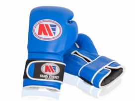Main Event GTG 1000 Gym Leather Training Boxing Gloves Blue
